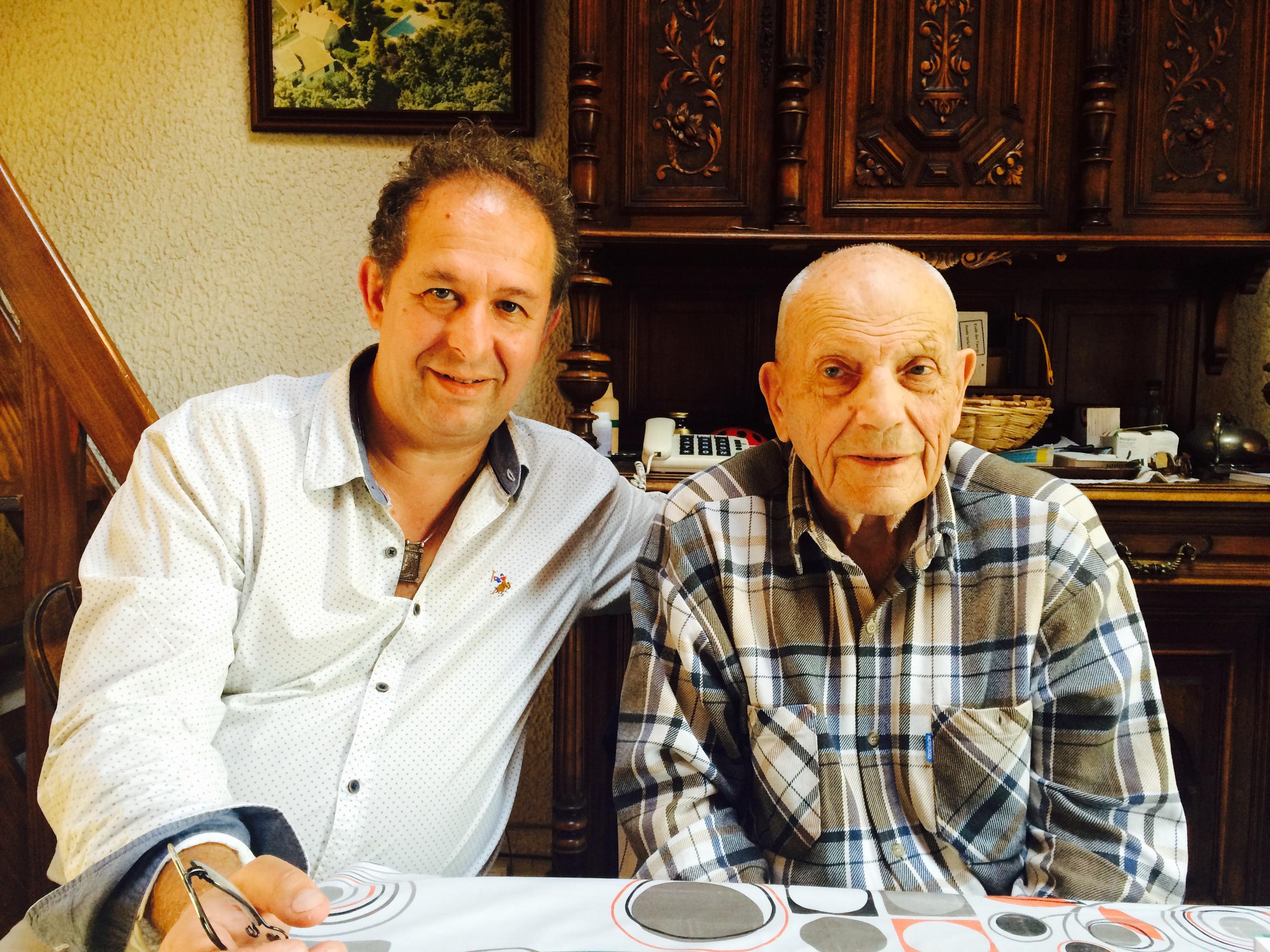 Le Pr Pierre Magnin, à droite, accompagné du Dr Pascal Vidal.